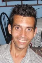 Gerardo Younel en su casa el pasado mes de abril