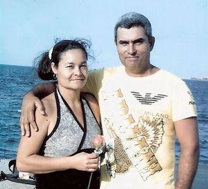 Juana junto a Osvaldo